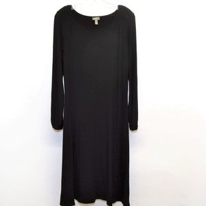 J JILL Black Stretch Long Jersey Dress S